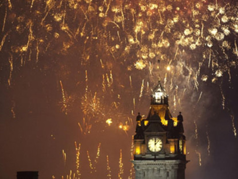 Hogmanay midnight fireworks balmoral cap gallery thumbnail