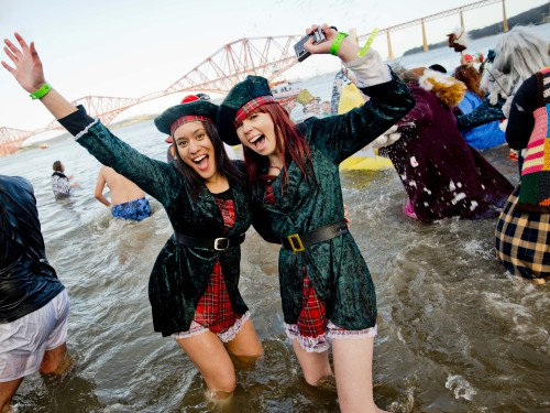 The loony dook (credit chris watt  edinburgh's hogmanay) about listing