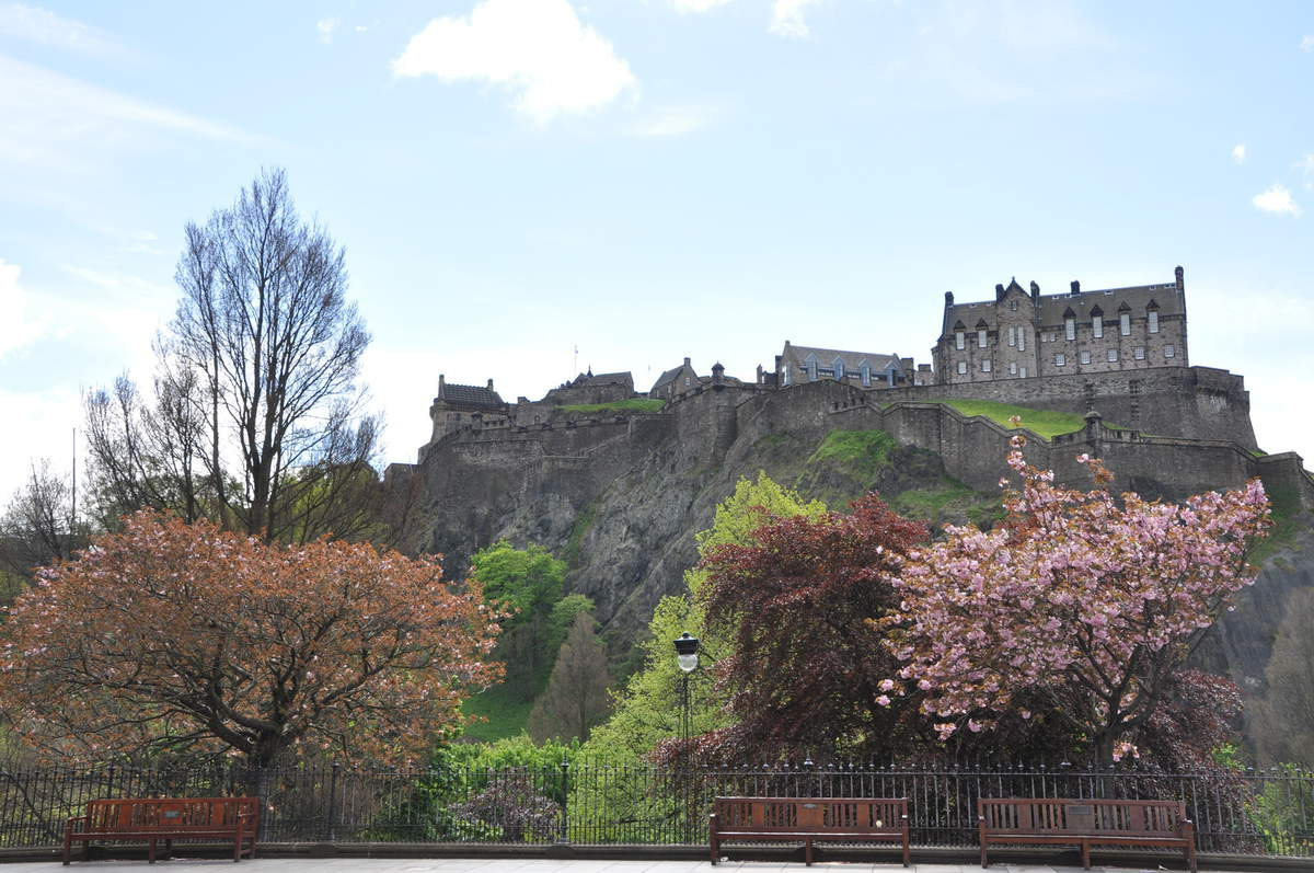 View of Edinburgh Castle with Princes Street Gardens in foreground (credit Marketing Edinburgh)