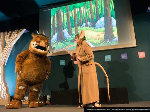 Gruffalo with julia donaldson cap gallery thumbnail