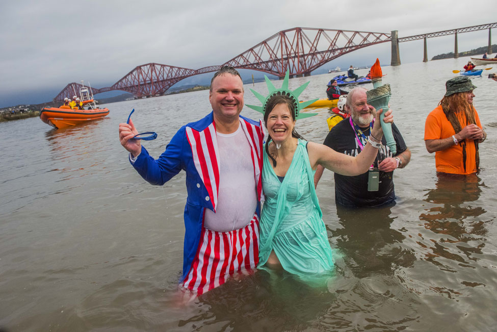 Edinburghs Hogmanay Loony Dook Chris Watt 68