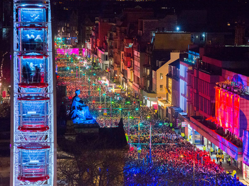Edinburghs hogmanay 2018 street party chris watt cap festival listing