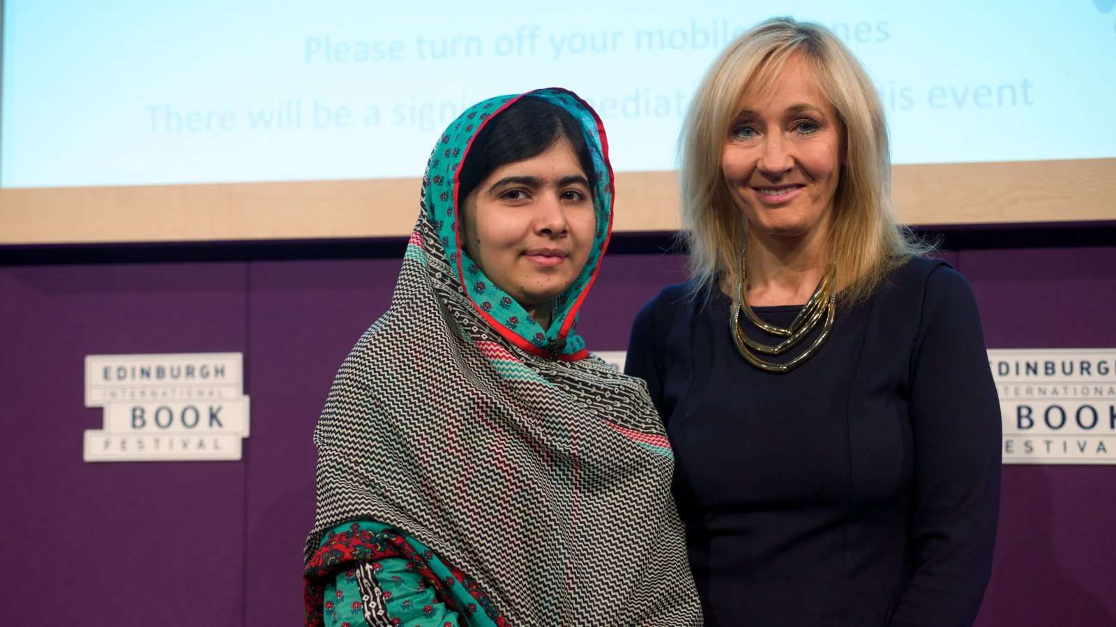 Malala Yousafzai J. K. Rowling Credit Alan McCredie Edinburgh International Book Festival (1)