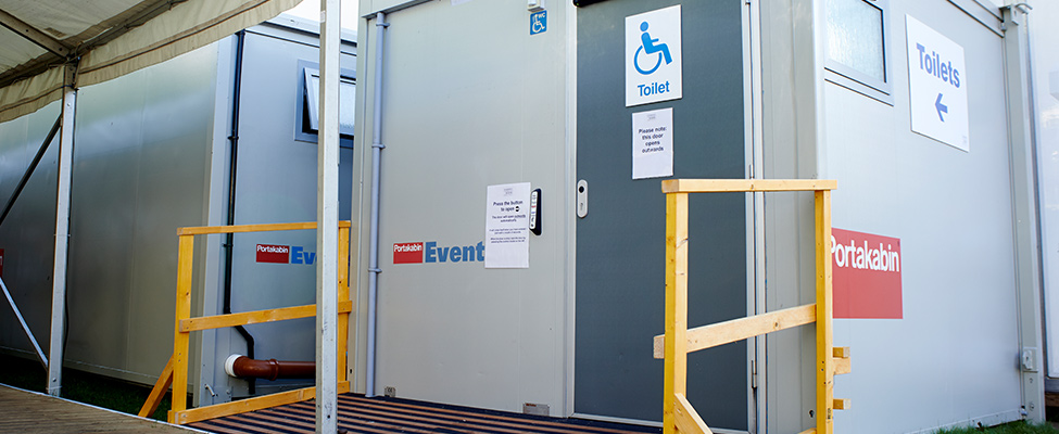Photo: The exterior of an accessible Changing Places toilet