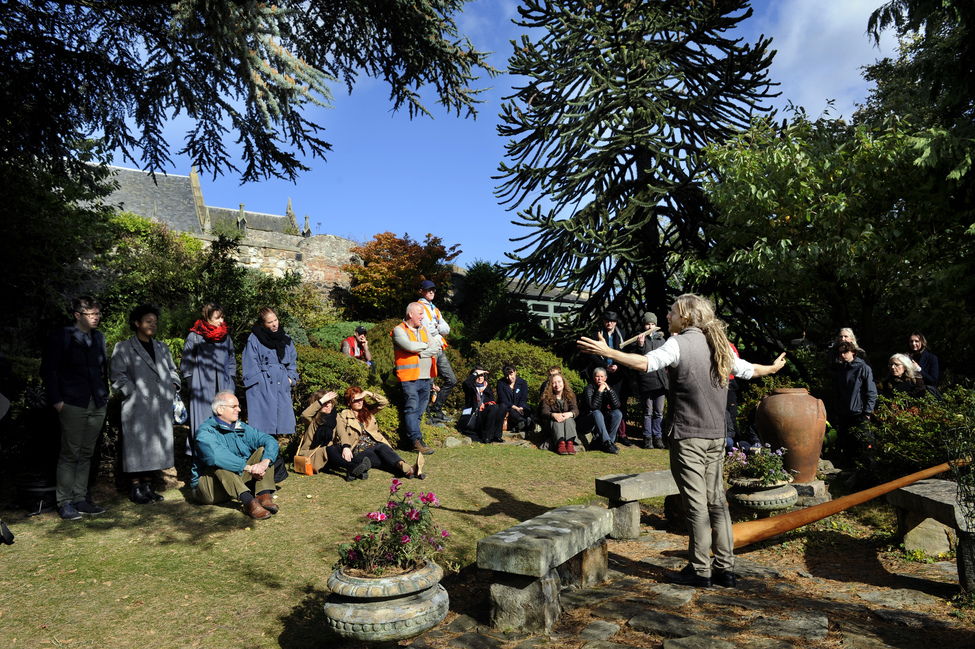 Storytelling at Dr Neils Garden Credit Colin Hatersley Scottish International Storytelling Festival